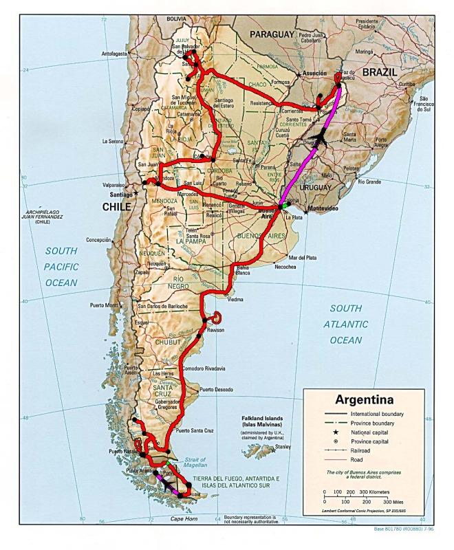 Le trajet final en Argentine