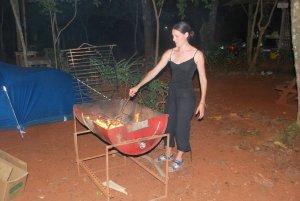 Petit barbecue au camping