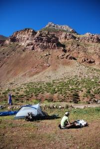 Notre campement à Punte del Inca
