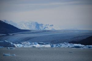 Le glacier Upsala, encore plus gros que le Moreno mais qu'on ne peut pas plus approcher à cause des icebergs