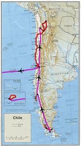 Le trajet final au Chili (avec l'île de Pâques)