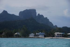 Notre pension à Bora Bora, en bord de lagon