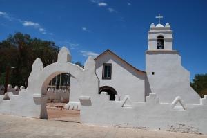L'église de San pedro, aux poutres en bois de cactus