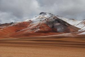 A l'aller, les montagnes étaient encore couverte de neige.
