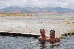 La baignade à 4200m d'altitude... mais dans une eau à 38°C !