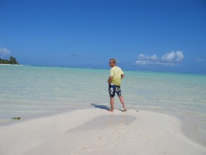 Au milieu du lagon de Maupiti