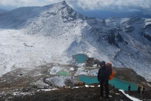 Les lacs d'emeraude, le premier jour, sous la neige