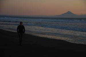 Avec la plage de sable noir devant, là c'était franchement féerique..