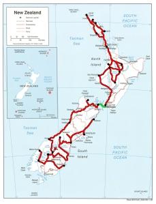 Le trajet final en Nouvelle-Zélande