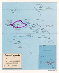 Le trajet final en Polynésie française