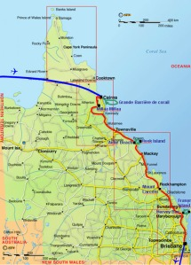 Et une nouvelle longue route dans le Queensland, mais cette fois vers le sud