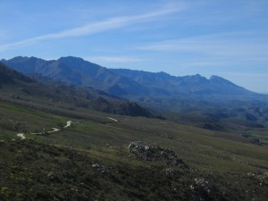 Dans la montée du Swartberg