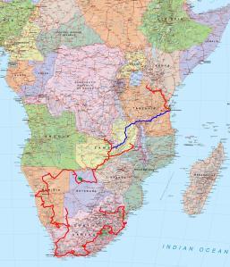 Le trajet final en Afrique australe