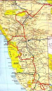 Le trajet final en Namibie
