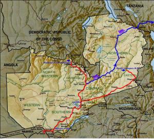 Le trajet final en Zambie